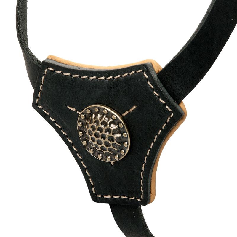 Harnais en cuir pour petit chien balade tranquille h2r - Fabriquer un harnais pour chien ...