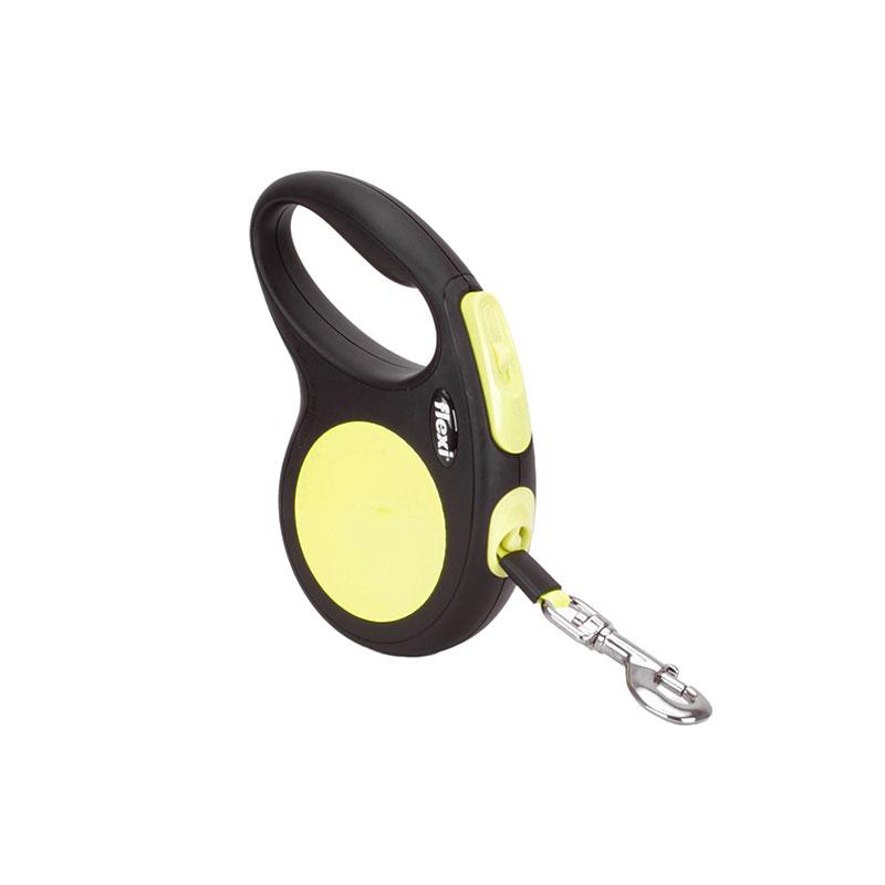 Laisse enrouleur 5 m pour chien moyen flexi neon medium l58 - Laisse lasso pour chien ...